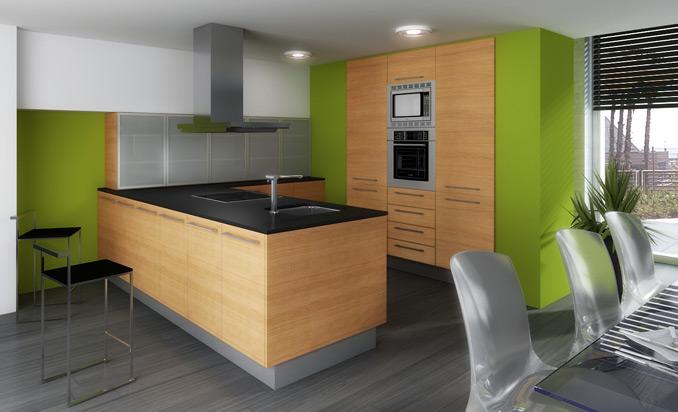 Muebles de cocina con acabados en madera