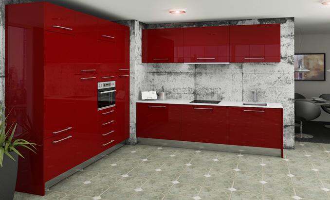 Cocinas con Muebles Rojos 2 - Cocinas.com