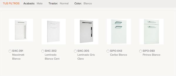 Imagen de los modelos de puerta de Cocinas.com