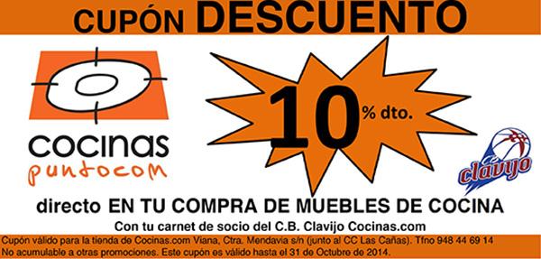 Cupon descuento en Cocinas.com del 10%