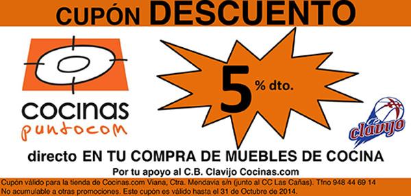 Cupon descuento en Cocinas.com del 5%
