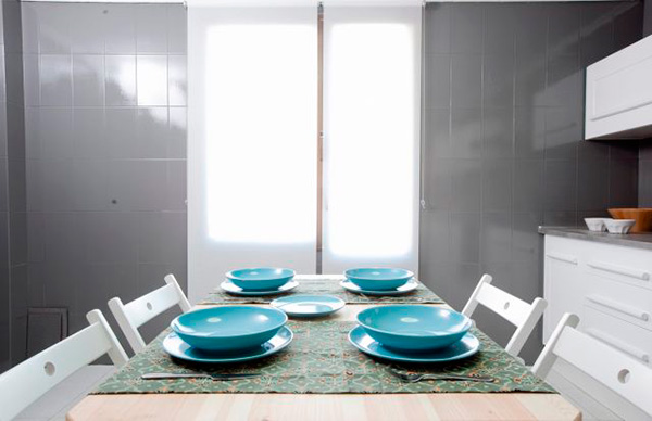 Imagen de la mesa para comer que utilizaron en la grabacion del programa Decogarden