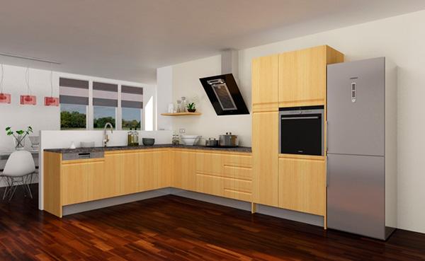 Imagen de un modelo en L de Cocinas.com