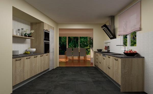 Imagen de un modelo en paralelo de Cocinas.com