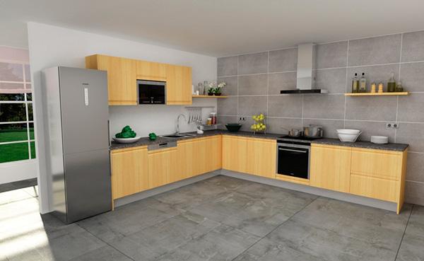 Imagen del modelo de cocina en L 10467
