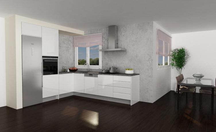 modelo cocina puerta croacia blanco brillo 13658