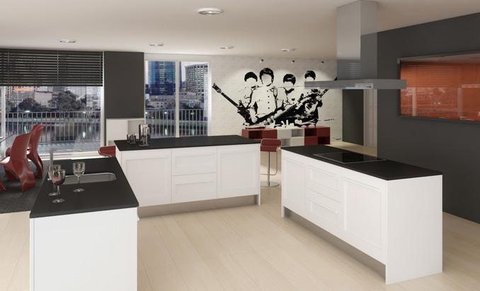 Modelo de cocina blanca Cocinas.com