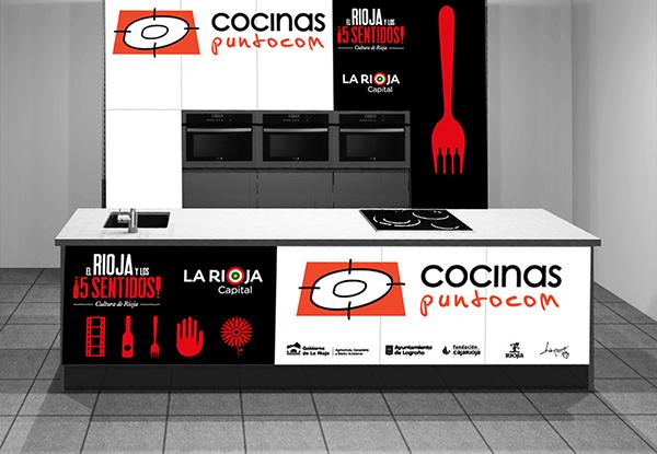 Show cooking del evento La Rioja y los5 sentidos en una cocina de Cocinas.com