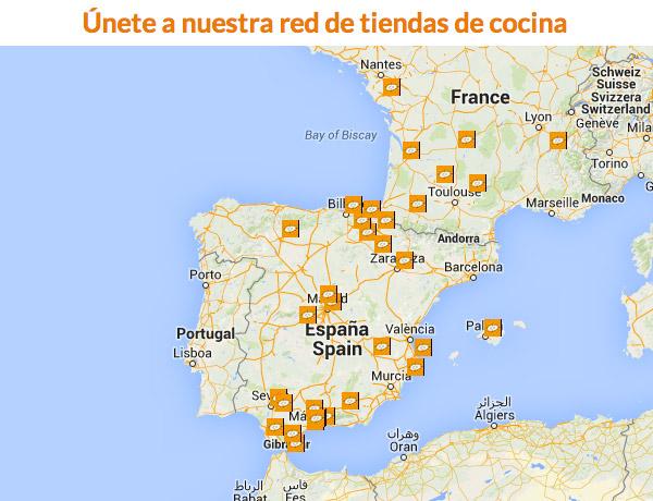 Mapa de los distribuidores