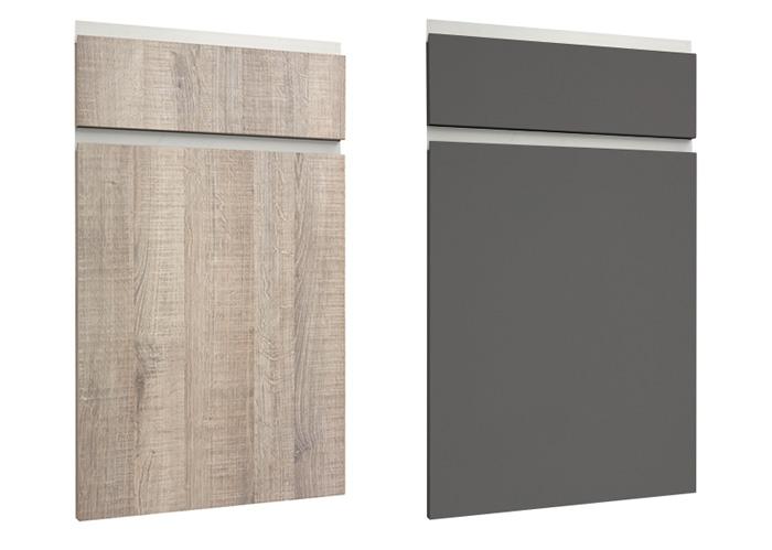 modelos de puerta tahon laminado roble gris y maxximatt grafito