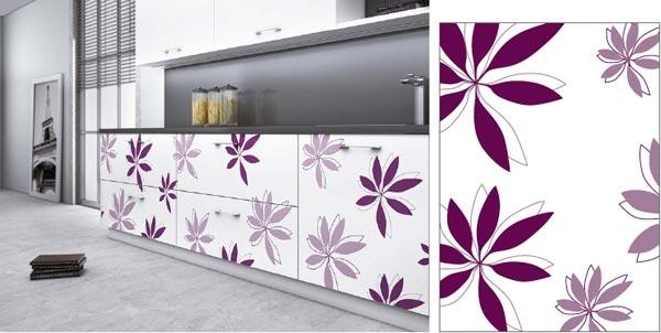 Ejemplo de puertas decoradas con flores