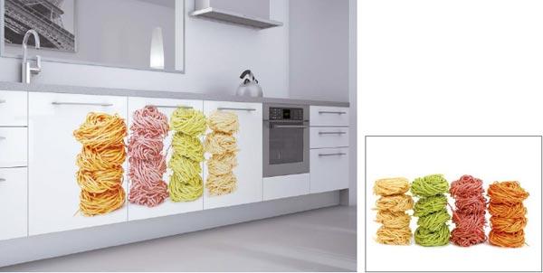 Ejemplo de puertas decoradas con pasta