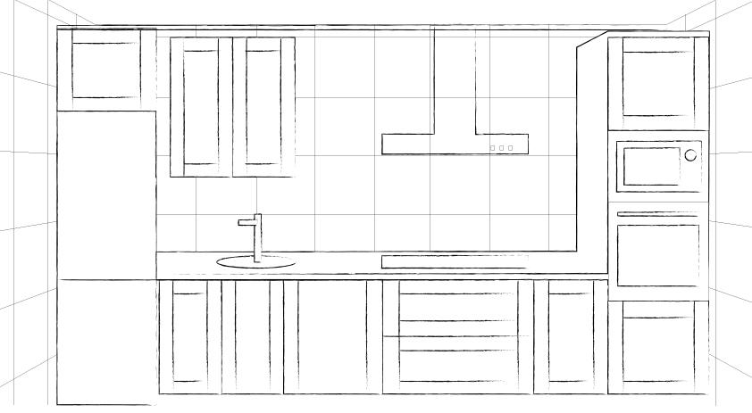Boceto para renovar tu cocina