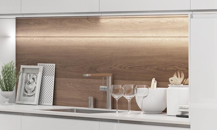 Iluminación en una cocina - Encimera
