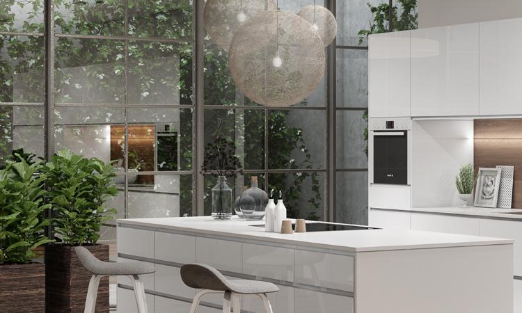 Iluminación en una cocina - Zona de cocmidas