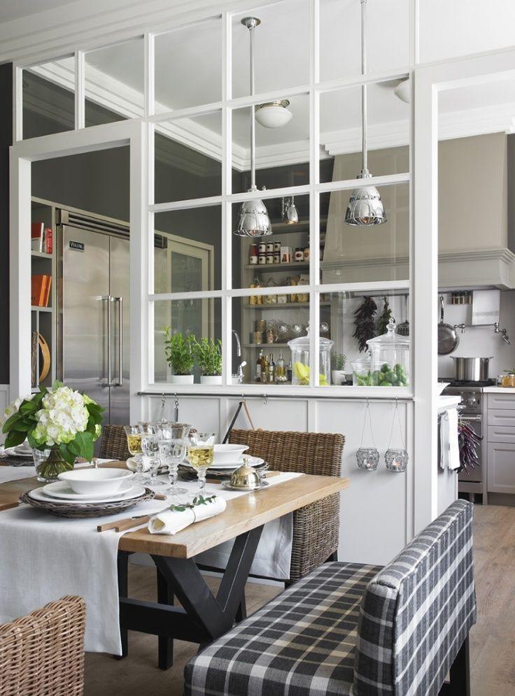 Cocinas con paredes de cristal