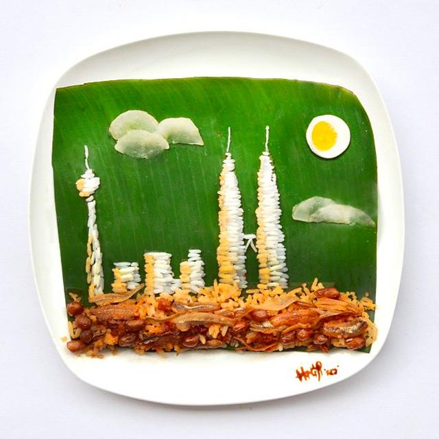 Hong Yi: Arte con comida