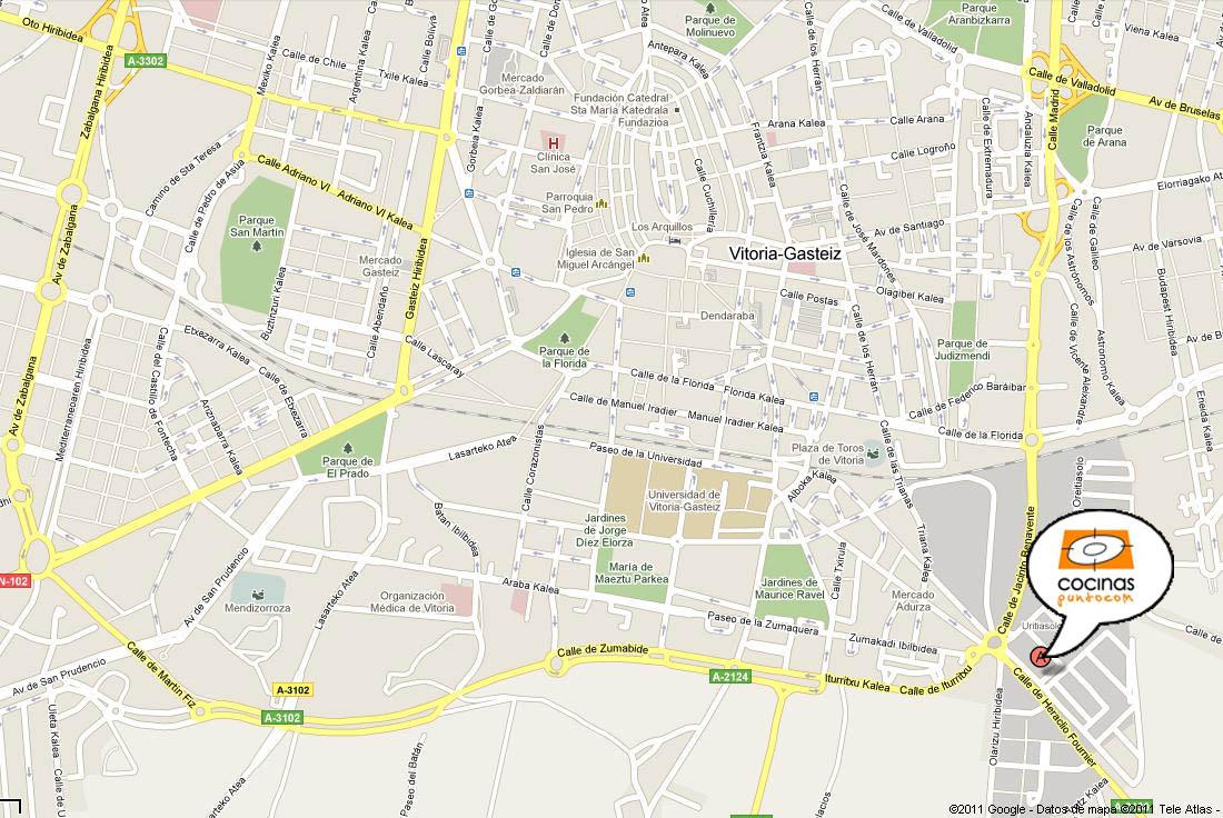 mapa vitoria cocinas.com