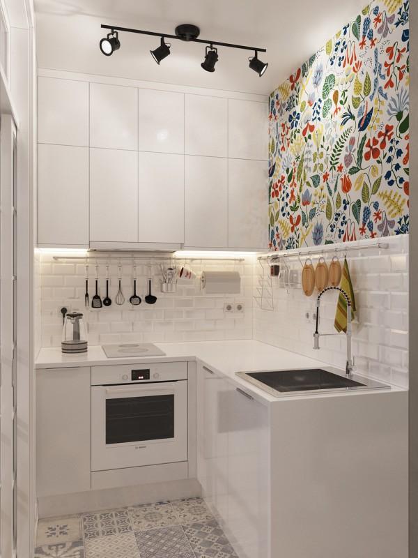 Cocinas con papel pintado
